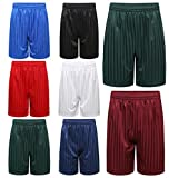 Voice7 Kids Girls Boys Adults Unisex PE School Shadow Stripe Shorts ~ Gym Shorts/Casual Shorts/Sports Shorts/Football Shorts/School Shorts All UK Sizes & Colors Choice (Royal Blue, 11-12 Years)