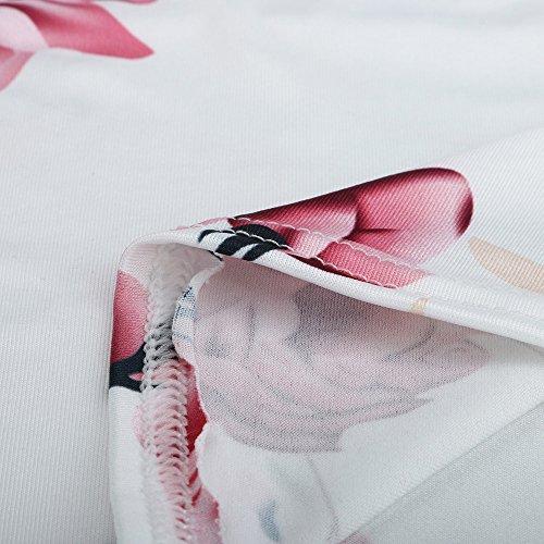 Longra Donna Canotta stampata a fiori Bianca