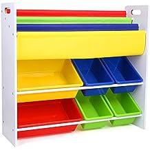 homfa meuble de rangement jouets etagre de jouets de 5 etages pour jouets et livres chambre