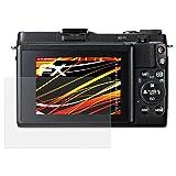 atFoliX Folie für Canon PowerShot G1 X Mark II Displayschutzfolie - 3 x FX-Antireflex-HD hochauflösende entspiegelnde Schutzfolie