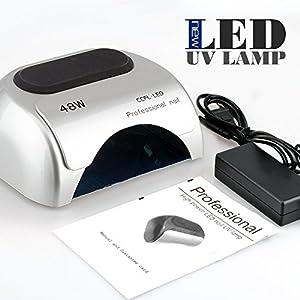 Perfect Summer Lámpara LED Profesional Secador de Uñas en Manicuras de Shellac y Gel con Temporizadores de 10, 20 y 30 segundos Plata