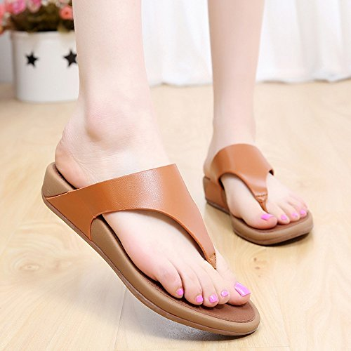 Donne sandali Pantaloni donna Summer Comfort Casual Flat Heels Scarpe da passeggio Scarpe da spiaggia di temperamento Confortevole ( Colore : #3 , dimensioni : EU38/UK5.5/CN38 ) #3