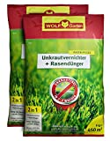 WOLF Garten SQ 450 Unkrautvernichter Plus Rasendünger 2x9kg für 900m²