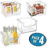 mDesign 4er-Set Aufbewahrungsbox für Lebensmittel – Küchen Ablage mit offener