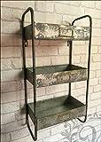 Whaleycorn Unité de rangement avec étagères en métal de style industriel et vintage