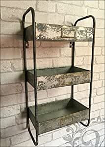 regal retro vintage design industrieller stil metall b robedarf schreibwaren. Black Bedroom Furniture Sets. Home Design Ideas