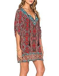 Amazon.it  Vestito Hippie - Donna  Abbigliamento 0bdb9d9de32