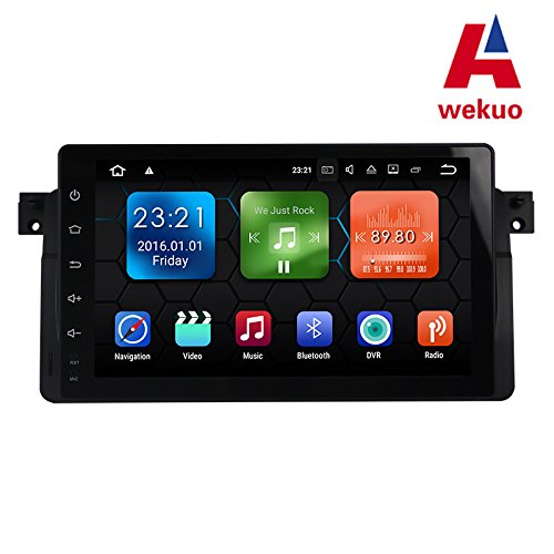 wekuo 22,9 cm Full Touch Screen Android 7.1 Auto Video Player für BMW E46 3 Series M3 Auto Radio Stereo GPS Navigation mit Canbus