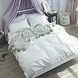 Kexinfan Bettbezug Pear Ball Baumwolle Vierteiligen Anzug Frühjahr und Sommer Baumwolle Bettwäsche Bettwäsche Bettdecke, Weiß, 1,2 M (4 Fuß) Bett