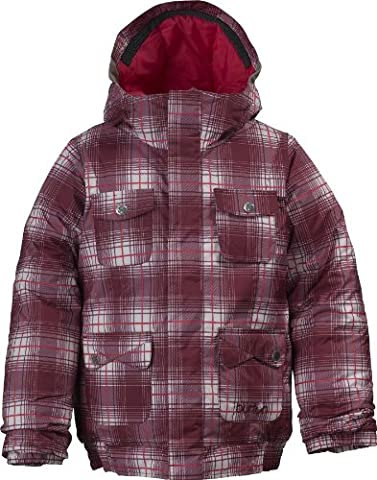 Burton Twist Girls veste de snowboard pour fille L Blanco (Bright White Blur Plaid)