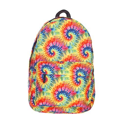 Giddah cute mode kawaii unisex ragazze zaino scolastica completamente arcobaleno colorato stampato cabina bagagli borsa da viaggio