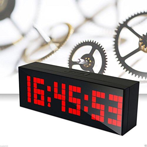 LED électronique Réveils Grande LED Numérique Horloge Murale avec Température de la Date Compte à Rebours - Rouge
