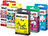 Medrull Pflaster für Kinder im Set 5er Pack (5 x10 Stück) Mr HAPPY Hello KITTY Piraten MIMI Kids Marine