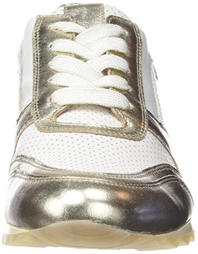Hassia Barcelona, Weite H, Sneakers basses femme Blanc - Weiß (0275 weiß/platin)
