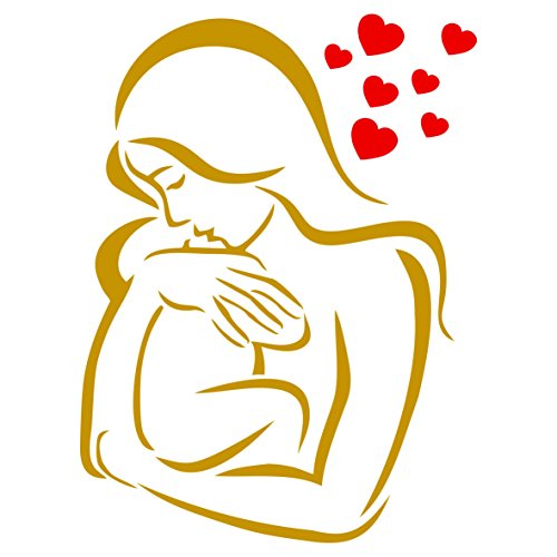 Baby Love Schablone, wiederverwendbar, Mutter Baby Kind Junge Mädchen Wand–Vorlage, auf Papier Projekte Scrapbook Tagebuch Wände Böden Stoff Möbel Glas Holz etc. m