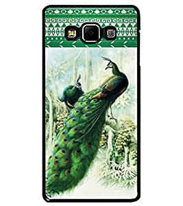 ColourCraft Beautiful Peacocks Design Back Case Cover for SAMSUNG GALAXY A7