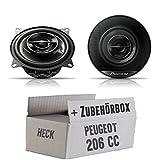 Peugeot 206 CC Heck - Pioneer TS-G1032i - 10cm Koaxe - Einbauset