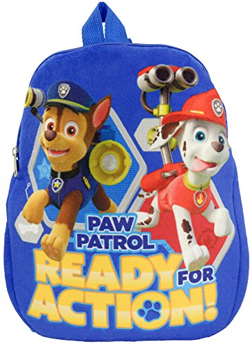 Paw Patrol Plüsch Ready for Action Kinder-Rucksack, Polyester 32.5 x 27 x 4 cm, Blau -