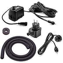 CLGarden® Springbrunnen Pumpe SP2-S Set mit 2x LED Beleuchtung 12V AC 1300 L//H