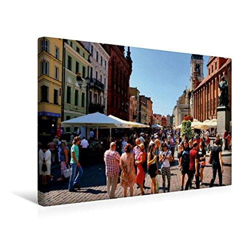 Calvendo Premium Textil-Leinwand 45 cm x 30 cm Quer, Die Lebendige Altstadt, rund um Das...