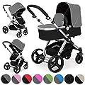 Froggy Kinderwagen MAGICA Kombikinderwagen Sportwagen Buggy Kinderwagenset 2 in1 mit Babywanne und Sportsitz Verschiedene Farben