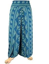 3614a50d8bc0 Guru-Shop Palazzohose, Offene Sommerhose, Damen, Blau, Synthetisch,  Size 38, Lange Hosen Alternative…