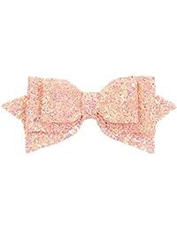 Stoff Haarspange Haarklammer KRONE Prinzessin rosa handmade Kinder Mädchen Baby