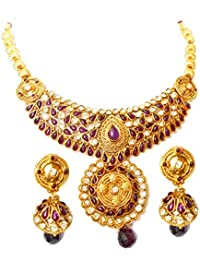 Triumphin Purple 14K Green Gold Plating Jewelry Set For Wedding Jewelries For Women Necklace For Girls/women
