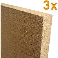 Vermiculite Platte 300x200x20mm 4 Stück 600KG//m³
