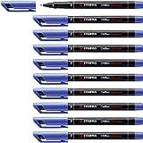 STABILO OHPen universal Fine permanente colore Blu - Confezione da 10