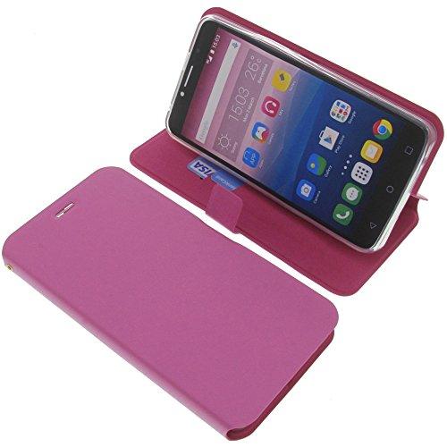 foto-kontor Tasche für Alcatel Pixi 4 6.0 3G Book Style pink Schutz Hülle Buch