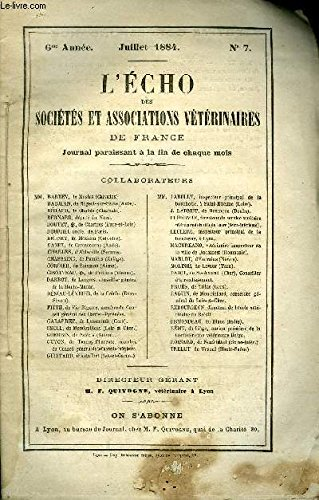 L'ECHO DES SOCIETES ET ASSOCIATIONS VETERINAIR...