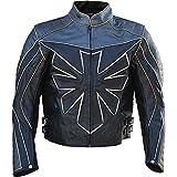 Classyak ist, wird Triumph Herren Echt Leder Motorrad Jacke Gr. X-Large, Cow Black
