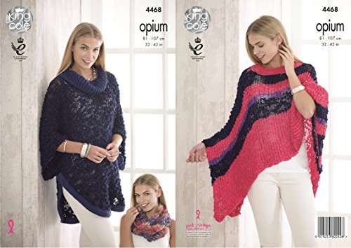 6a9e80c31 King Cole 4468 Knitting Pattern Ladies Cape Poncho and Snood in Opium - Buy  Online in Oman.