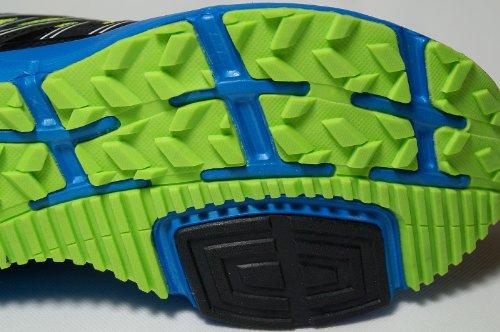 Gibra , Baskets pour homme Noir - Nero / Blu / Verde Neon