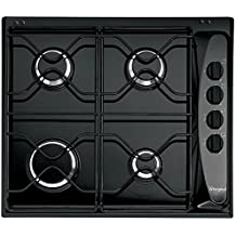 Whirlpool AKM 268/NB Integrado Encimera de gas Negro - Placa (Integrado, Encimera de gas, Negro, Giratorio, 0,85 m, 7300 W)