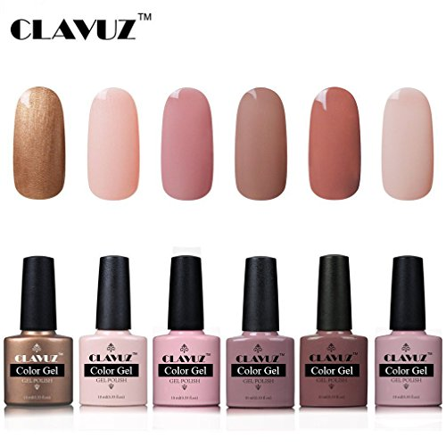 Esmalte Semipermanente de Uñas en Gel UV LED Esmalte de Uñas 6pcs Kit Uñas de Gel Manicura Soak off...