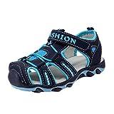 YiLianDa Enfant Sandales de Marche Randonnée Chaussures Sandales Bout Fermé Sport Respirant Garçon Fonce Bleu 33