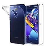 ebestStar - pour Huawei Honor 6C Pro [Dimensions PRECISES de votre appareil : 147.9 x 73.2 x 7.7 mm, écran 5.2''] - Housse Coque Silicone Gel Souple ULTRA FINE INVISIBLE + Film protection écran en VERRE Trempé, Couleur Transparent [Note Importante Lire Description]