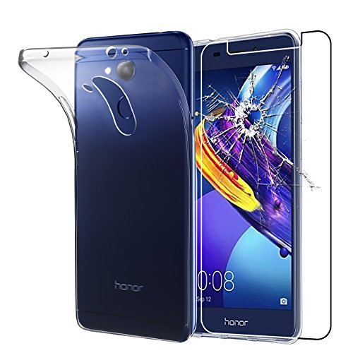 ebestStar - Huawei Honor 6C Pro Hülle Handyhülle [Ultra Dünn], Durchsichtige Klar Flex Silikon Schutzhülle, Transparent + Panzerglas Schutzfolie [Phone: 147.9 x 73.2 x 7.7mm, 5.2'']