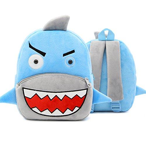 XLHMILY Mini dibujos animados 3D Mochila Infantiles Niños mochila animal tiburón unicornio mochila algodón de jardín de infantes para niñas o niños 2-6 años
