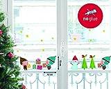 NOUVELLES IMAGES 170.001883.05 Stickers de Noël Design Bonhomme de Neige/Lutin/Cadeaux, Polyvinyle, Multicolore, 36 x 24 x 0,02 cm