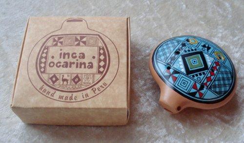 Inca Ocarina Flöte, traditionell aus Peru, Fair Trade türkis