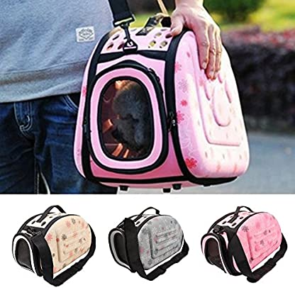 Small Dogs Carrying Bag Foldable Travel Pet Dog Bag Pet Carrier for Dogs Cats Portable Outgoing Handbag Pet Cat Dog… 3