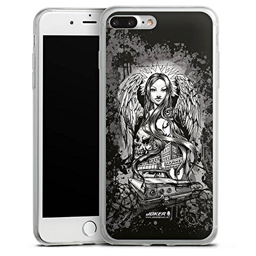Apple iPhone X Slim Case Silikon Hülle Schutzhülle Joker - Lost Angel Engel Totenkopf Silikon Slim Case transparent