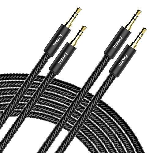 Aux Kabel, [2 PACK] Nulaxy 3,5mm Audio Kabel,Audio Stereo Klinkenkabel,Klinkenstecker geeignet für Auto / Heimkino, FM Transmitter iPod,iPhone,iPad, Echo Dot, Smartphones, Tablet und MP3 Player (Jbl-premium-auto-lautsprecher)