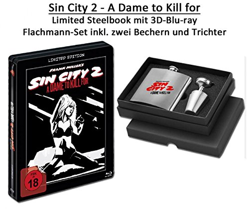 BR BOX Sin City 2 - A Dame to Kill for 3D - Limited Edition Steelbook (inkl. Flachmann) (To Dame Dvd City Für Kill Sin)