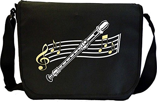 Recorder Curved Stave - Sheet Music Document Bag Musik Notentasche MusicaliTee