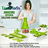 Trackindia Combo of 3 in 1 Quick Cutter, 6 in 1 Grater & Veg. Multi Cutter With Piller