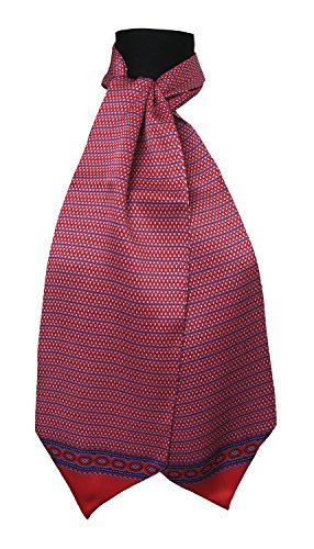 Ascot-schal (Ascot Krawatte100% Seide Made in Italy Tessago 6914 bordeaux)